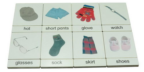 Classification 3 Part Timber Cards - Textiles -