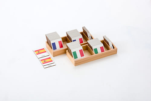Classification 3 Part Timber Cards - European Flags -