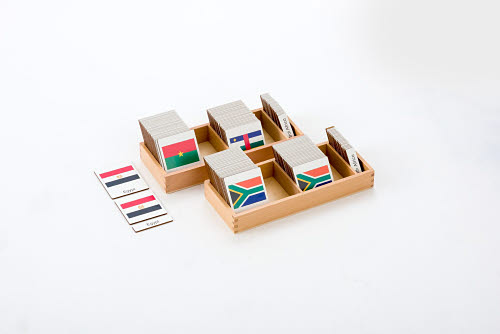 Classification 3 Part Timber Cards - African Flags -