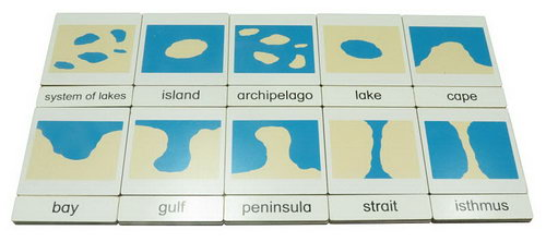 Classification 3 Part Timber Cards - Land & Water -