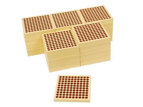 Wooden Squares of 100: set of 45 -