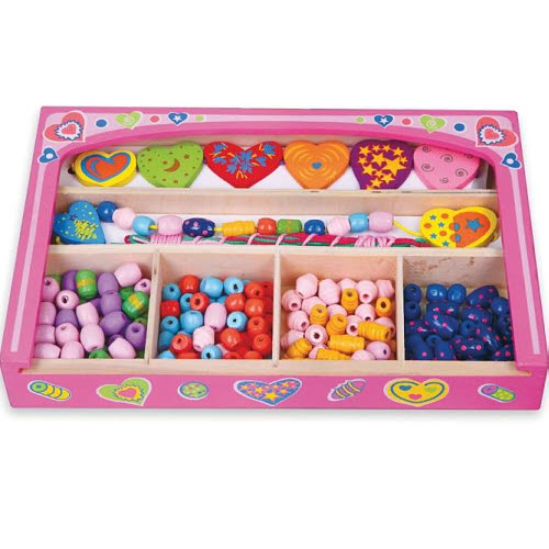 Bead Set In Pink Box - Hearts - Bead Set In Pink Box - Hearts