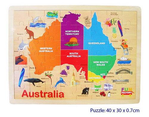 Jigsaw Puzzle - Australia Map -