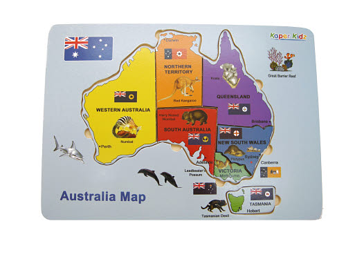Australia Map Puzzle -  Australia Map Puzzle