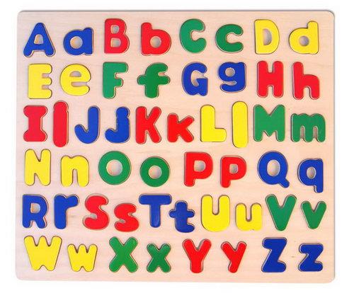 Raised Alphabet Puzzle - Upper and Lower Case - Raised Alphabet Puzzle - Upper and Lower Case