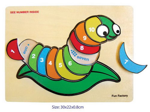 Puzzle Raised - Silk Worm W/Numbers -
