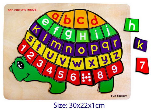 Puzzle - Turtle Number/Letter -