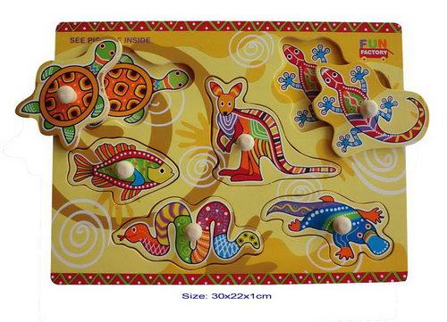 Puzzle w/Knobs -Aboriginal -