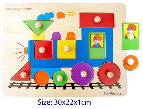 Puzzle w/Knobs - Train -