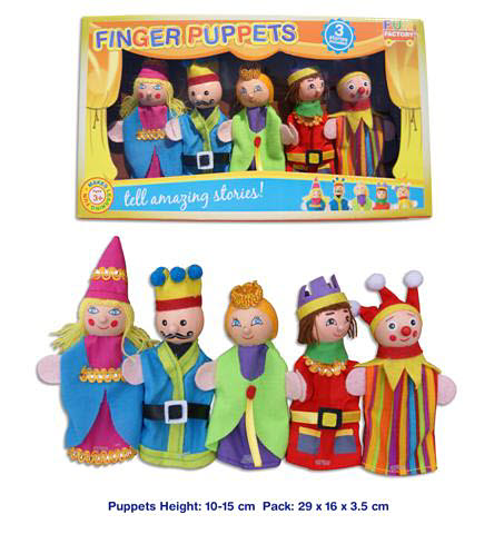 Finger puppet 5pc - King/Queen - Finger puppet 5pc - King/Queen