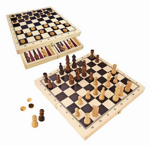 Chess, Checkers & Backgammon - Fold up travel Set - Chess, Checkers & Backgammon - Fold up travel Set
