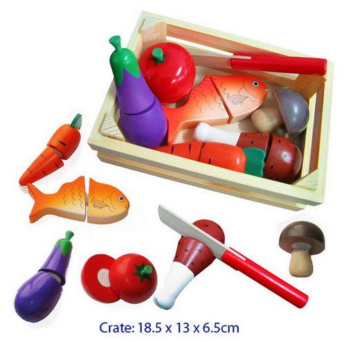 Cutting Food Crate w/knife - Cutting Food Crate w/knife