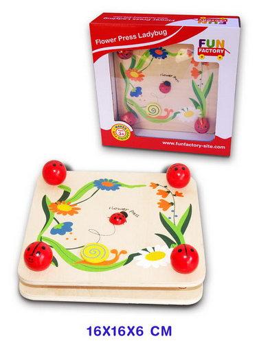 Flower Press Ladybug -