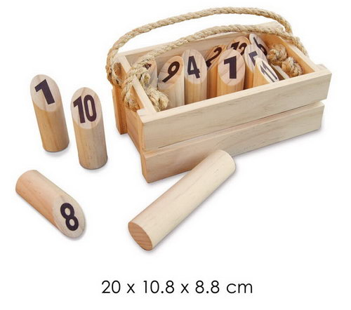 Log Toss game wooden in carry case -