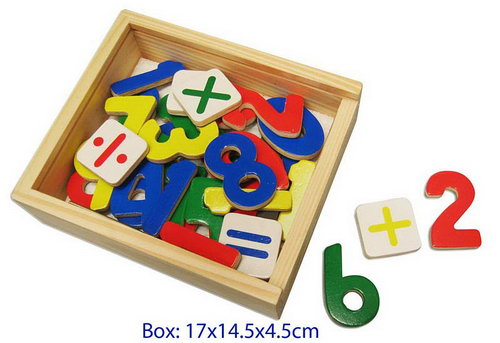 Magnetic Numbers Wood in Box -