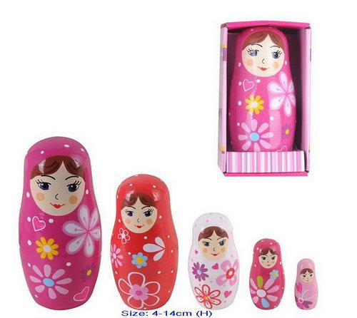 Nesting Doll 5pcs - Baboushka - Nesting Doll 5pcs - Baboushka