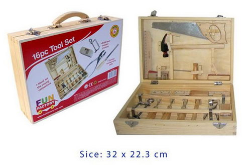 Tool Set 16Pc in Timber Case - Tool Set 16Pc in Timber Case