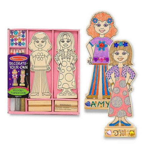 M&D Wooden Fashion Dolls DYO -