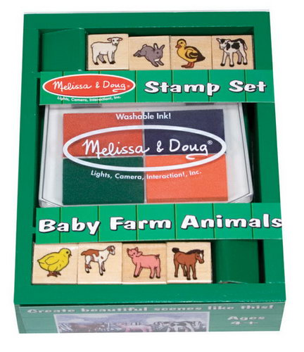 M&D - Baby Farm Animals Stamp Set -