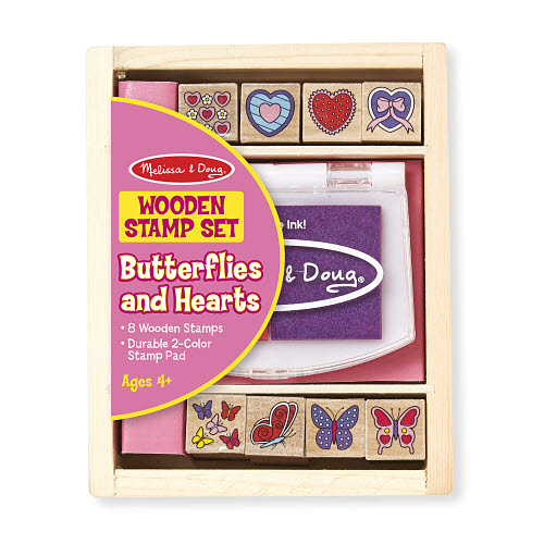 M&D - Butterfly And Hearts Stamp Set - M&D - Butterfly And Hearts Stamp Set