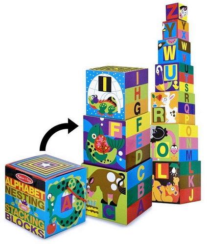 M&D - Alphabet Nesting & Stacking Blocks - Alphabet Nesting & Stacking Blocks