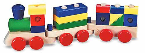 M&D - Wooden Stacking Train - M&D - Wooden Stacking Train
