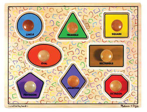 M&D - Large Shapes Jumbo Knob Puzzle - 8pc - Large Shapes Jumbo Knob Puzzle - 8pc