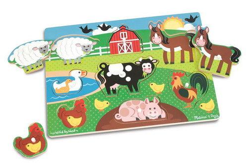 M&D - Farm Peg Puzzle - M&D - Farm Peg Puzzle