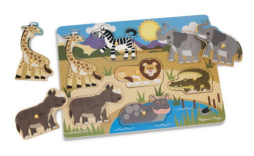 M&D - Safari Peg Puzzle - M&D - Safari Peg Puzzle