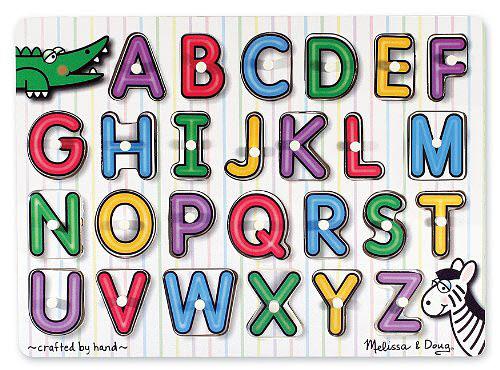 M&D - See-Inside Alphabet Peg Puzzle - M&D - See-Inside Alphabet Peg Puzzle