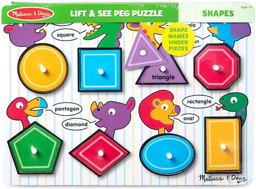M&D - Shapes Peg Puzzle -