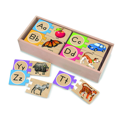 Alphabet Wooden Puzzle Cards - Alphabet Wooden Puzzle Cards
