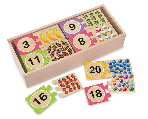 Numbers Wooden Puzzle Cards - Numbers Wooden Puzzle Cards