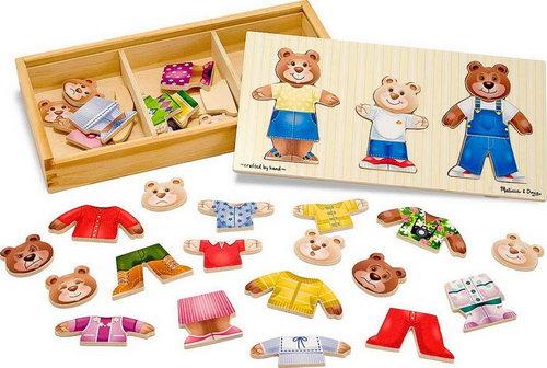 M&D - Wooden Bear Family Dress Up - 45pc -