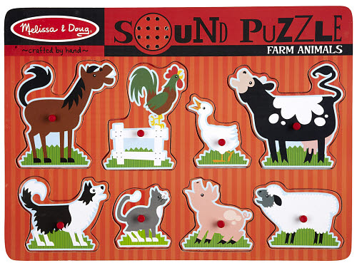 M&D - Farm Animals Sound Puzzle - 8pc - Farm Animals Sound Puzzle