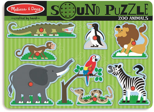 M&D - Zoo Animals Sound Puzzle - 8pc - Zoo Animals Sound Puzzle