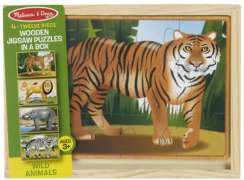 M&D - Wildlife Puzzles in a Box (set of 4) - Wildlife Puzzles in a Box