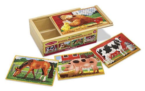 M&D - Farm Jigsaw Puzzles In a Box (Set of 4) - Farm Jigsaw Puzzles In A Box