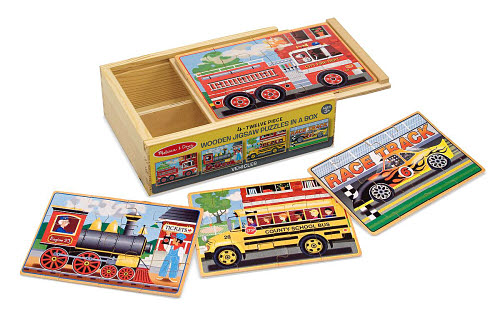 M&D - Vehicles Jigsaw Puzzles In a Box (Set of 4) - Vehicles Jigsaw Puzzles In A Box