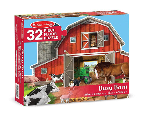 M&D - Busy Barn Shaped Floor Puzzle - 32pc - Busy Barn Shaped Floor Puzzle - 32pc