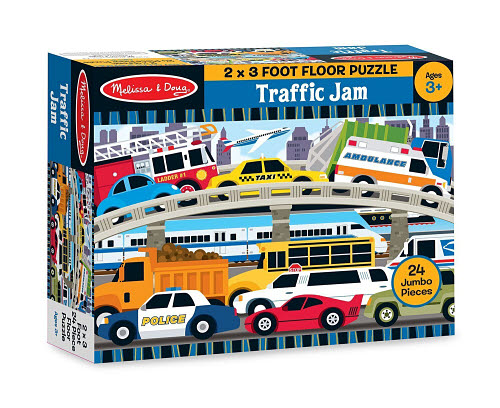 M&D - Traffic Jam Floor Puzzle - 24pc - M&D - Traffic Jam Floor Puzzle - 24pc