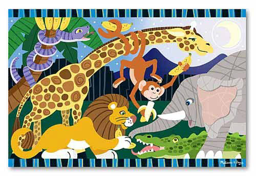 M&D - Safari Social Floor Puzzle - 24pc -