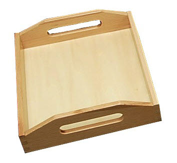 Wooden Tray with Cutout Handle - Small - Wooden Tray with Cutout Handle - Small