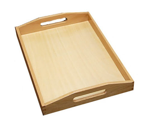 Wooden Tray with Cutout Handles - Medium - Wooden Tray with Cutout Handles - Medium