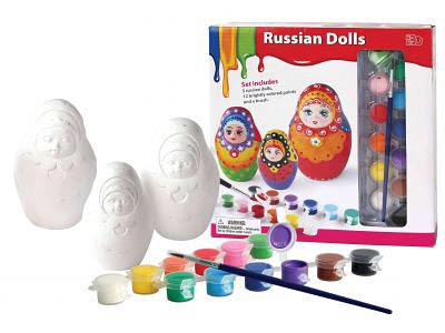 Paper Clay Russian Dolls - DIY -