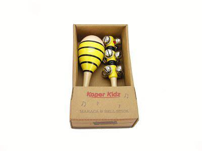 Bee Maraca & Bell Stick Set - Bee Maraca & Bell Stick Set