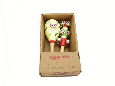 Owl Maraca & Bell Stick Set - Owl Maraca & Bell Stick Set