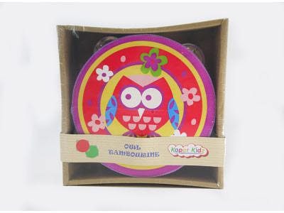Owl Tambourine - Red -