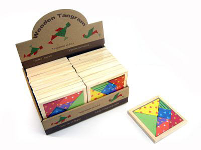 Patterned Tangram Puzzle (each) -