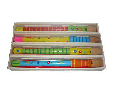 Patterned Wooden Recorder (each) -